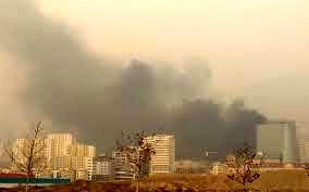 آتش سوزی در مرکز خرید رز مال واقع در غرب تهران
