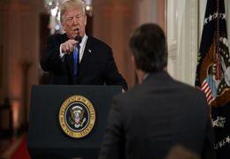 فیلم مشاجره لفظی ترامپ با خبرنگار CNN