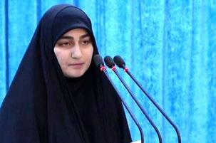سخنرانی دختر شهید سردار سلیمانی در لبنان