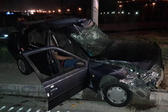 برخورد شدید چهار خودرو با هم در غرب تهران