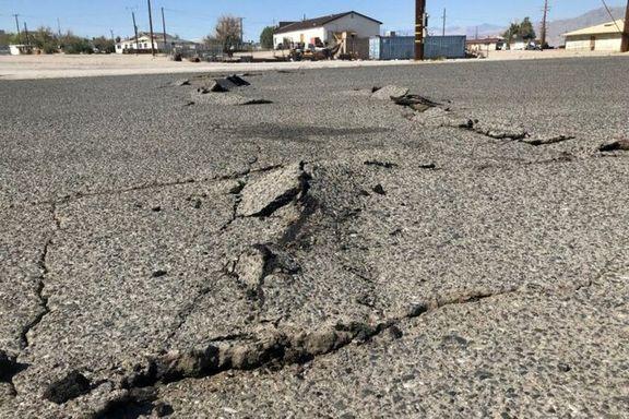 زلزله 7.1 ریشتری کالفرنیا باعث شکاف در زمین شد