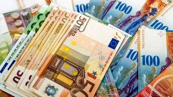 جدول قیمت ۳۹ ارز عمده بین بانکی