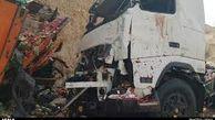 تصادف 3 خودرو سنگین در اتوبان زین الدین تهران