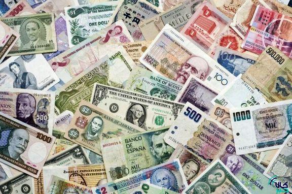 نرخ رسمی ۱۴ ارز افزایش و ۱۹ ارز کاهش یافت