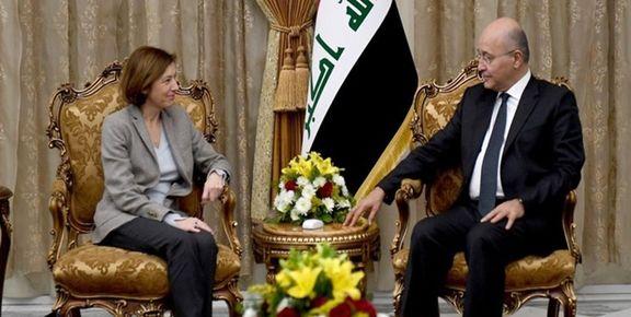 وزیر دفاع فرانسه با برهم صالح گفتگو کرد