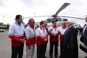 اولین دیدار های روحانی در سال 98/دیدار سرزده رئیس جمهوری کشور با ماموران ایستگاه سلامت اورژانس تهران- کرج