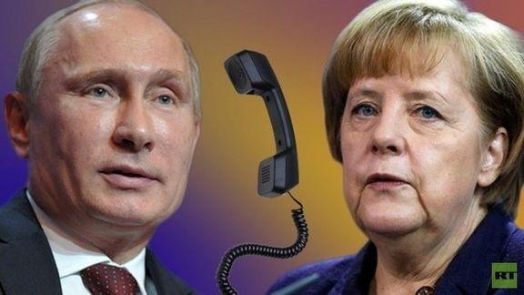 پوتین در تماس تلفنی با مرکل: حمله آمریکا و متحدانش نقض قوانین بین المللی است