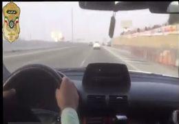 تعقیب و گریز پلیس با یک سارق حرفهای + ویدئو