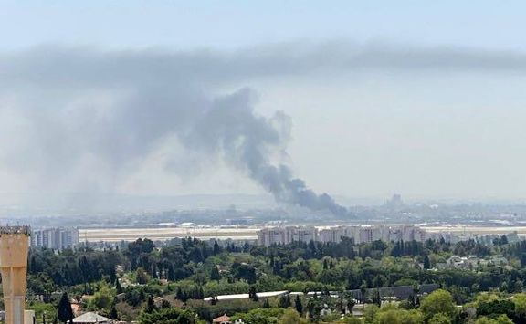 وقوع آتشسوزی گسترده در حوالی فرودگاه بن گوریون اسرائیل