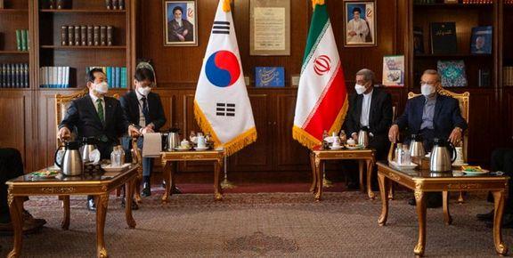 لاریجانی: کره هر چه سریعتر منابع ایران را آزاد کند