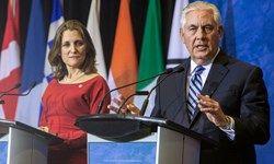 رایزنی تلفنی وزرای خارجه آمریکا و کانادا در مورد ایران و عربستان