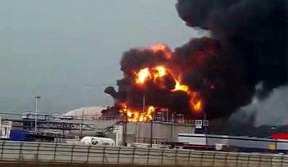 وقوع آتشسوزی مهیب در پالایشگاه نفت حیفا