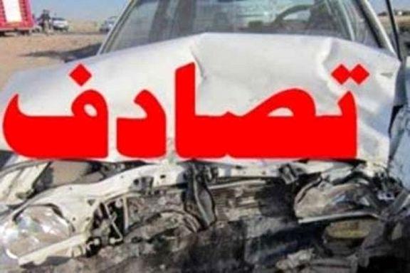 تصادف مرگبار 4 دستگاه خودرو در محور مشگین شهر/ خودرو پژو در آتش سوخت
