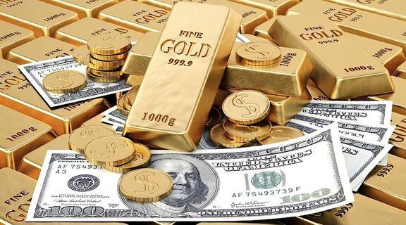 کاهش قیمت طلا تحت فشار تقویت دلار و افزایش سود اوراق قرضه امریکا