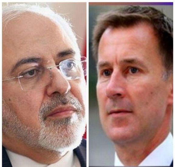 ظریف و وزیرخارجه انگلیس باهم گفتگو کردند