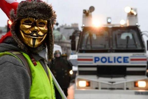 زد و خورد پلیس و معترضان جلیقه زرد در فرانسه