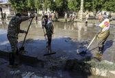 تخریب خطوط انتقال آب سه استان توسط سیل