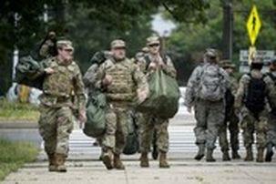 گارد ملی آمریکا برای سرکوب اعتراضت آمریکا به کمک پلیس فدرال رفت