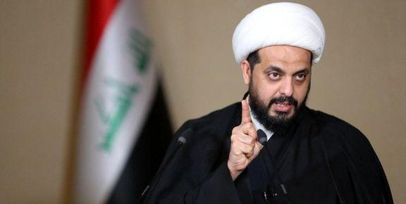 قیس خزعلی مقابل نخست وزیری عراق ایستاد