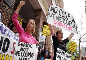 نیروهای پلیس آمریکا به سفارت ونزوئلا در واشنگتن  حمله کردند