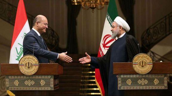 مراسم استقبال برهم صالح از حسن روحانی + ویدئو