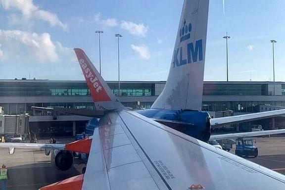 ۲ هواپیما در فرودگاه آمستردام با یکدگر برخورد کردند