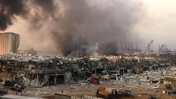 کشته شدن 10 نفر و زخمی شدن صدها نفر بر اثر انفجار بیروت تاکنون