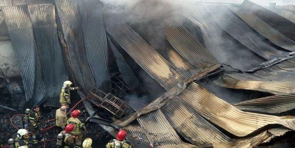 یک واحد تولیدی در ری آتش گرفت+ عکس