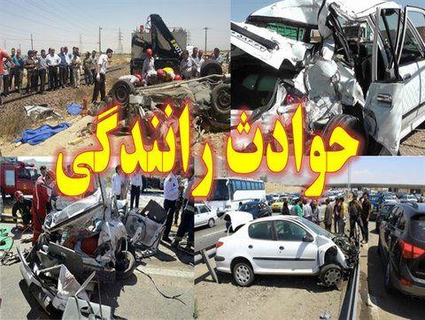 برخورد یک دستگاه اتوبوس با دستگاه خاور در محور نهاوند - نور آباد/ کشته و زخمی شدن ۱۷ تن