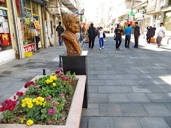 پیاده روهای تهران جاذب آب می شوند