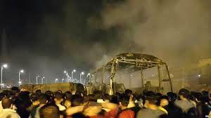 اسامی  مصدومین انفجار تانکر سوخت در سنندج  اعلام شد