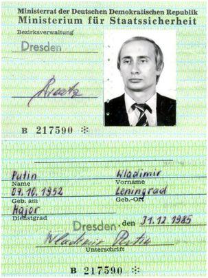 کارت شناسایی پوتین در زمانی جاسوسی او در آلمان پیدا شد