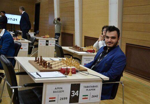 محمد امین طباطبایی نماینده شطرنج ایران مقابل حریفی از  رژیم صهیونیستی حاضر نشد