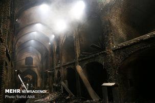 آتش سوزی مهیب در بازار بابل/  ۴۰ واحد تجاری  سوختند