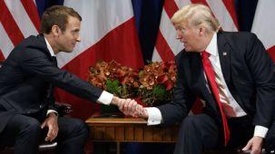 دونالد ترامپ با امانوئل ماکرون دیدار کرد