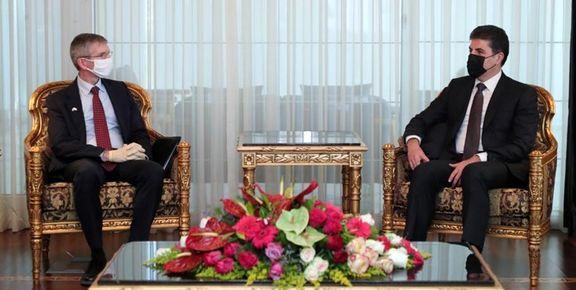 رئیس منطقه کردستان خواستار حضور آمریکایی ها در این منطقه شد