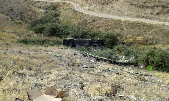 11 کشته و 27 مصدوم در حادثه سقوط اتوبوس در جاجرود
