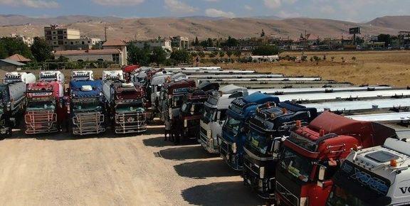 کاروان ۶۰ تانکری حامل سوخت ایران از مرز سوریه به سوی لبنان حرکت کرد