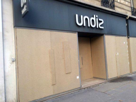 تصاویری از تخته شدن مغازه های برند در پاریس + تصویر