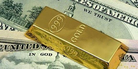 طلا یک دلار ارزان شد