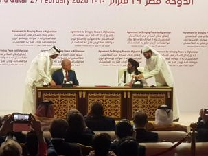توافق صلح آمریکا و طالبان رسما در دوحه امضا شد