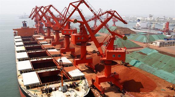 رشد هفتگی قیمت سنگ آهن در بنادر چین