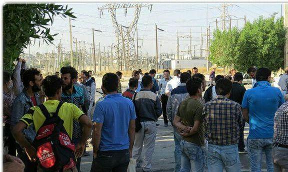 تجمع کارگران چم شیر برای مطالبه حقوق و دستمزد