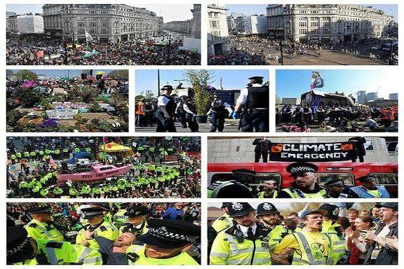 افزایش فشار برای محاکمه بیش از  هزار نفر از معترضان محیطزیست لندن