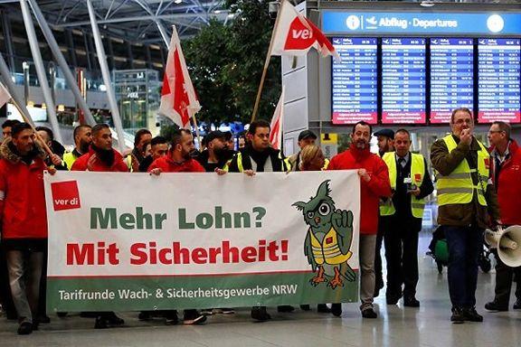 اعتصاب کارکنان فرودگاههای آلمان مسافران را سرگردان کرد