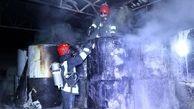 وقوع آتش سوزی در یک کارگاه مبل سازی در منطقه مرتضیگرد