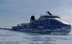 کشتی یخ شکن اتمی در روسیه ساخته می شود