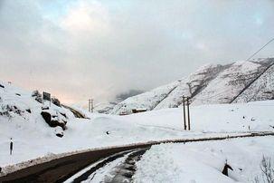 بارش برف در نورآباد لرستان