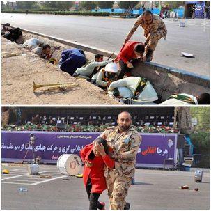 تقدیر از سرباز شجاع ارتش در حمله تروریستی اهواز