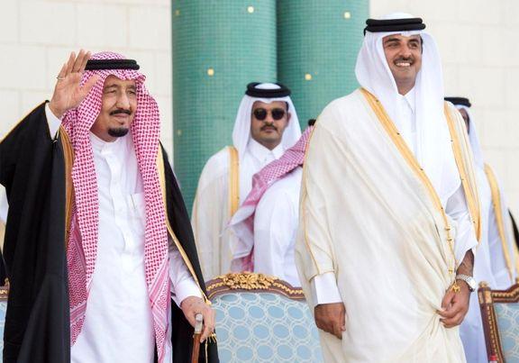 پادشاه عربستان سعودی  امیر قطر را برای حضور در نشست شورای همکاری خلیج فارس دعوت کرد